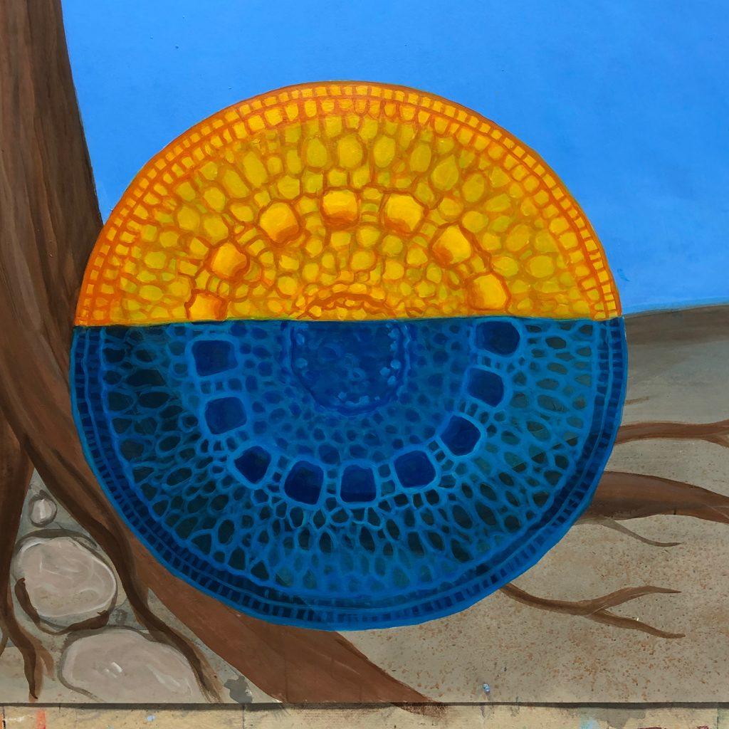molecular structure mural